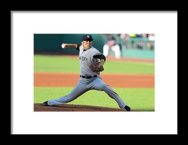 American League Baseball Framed Print featuring the photograph Masahiro Tanaka by Jason Miller
