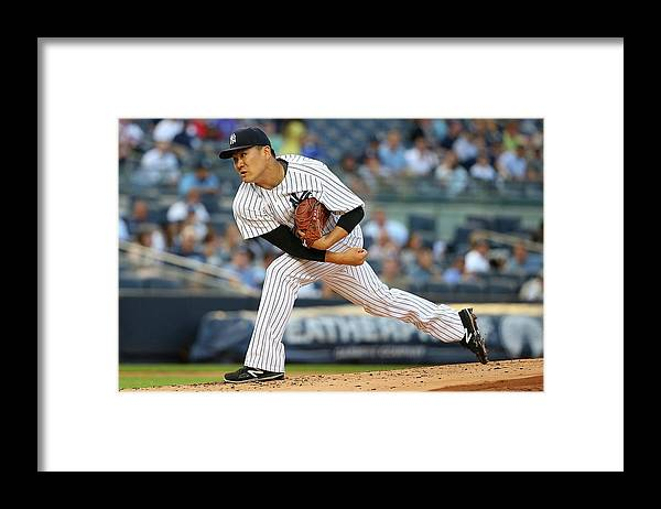 Second Inning Framed Print featuring the photograph Masahiro Tanaka by Mike Stobe