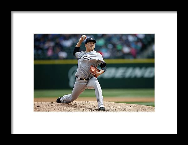 Second Inning Framed Print featuring the photograph Masahiro Tanaka by Otto Greule Jr