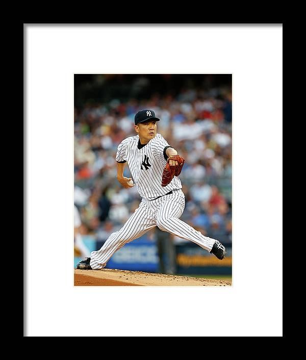 American League Baseball Framed Print featuring the photograph Masahiro Tanaka by Rich Schultz