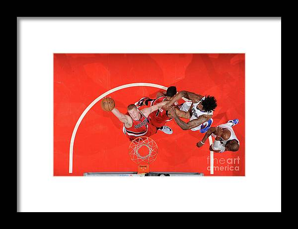 Nba Pro Basketball Framed Print featuring the photograph Mason Plumlee by Andrew D. Bernstein