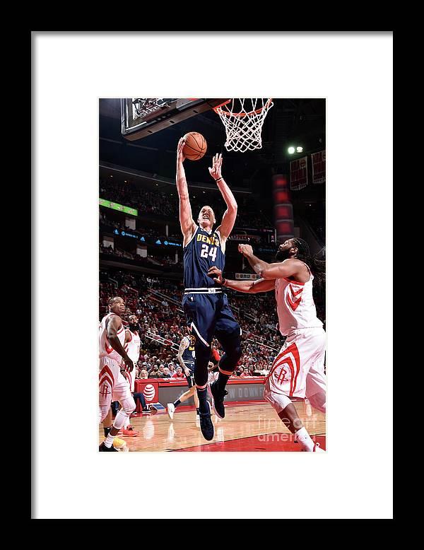 Nba Pro Basketball Framed Print featuring the photograph Mason Plumlee by Bill Baptist