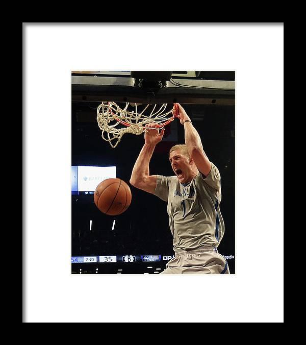 Nba Pro Basketball Framed Print featuring the photograph Mason Plumlee by Bruce Bennett