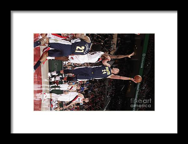 Nba Pro Basketball Framed Print featuring the photograph Mason Plumlee by Cameron Browne