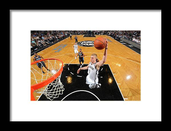 Nba Pro Basketball Framed Print featuring the photograph Mason Plumlee by Jesse D. Garrabrant