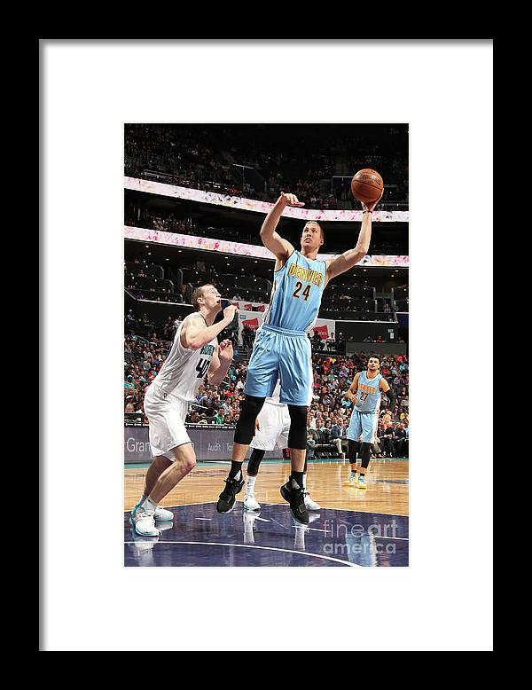 Nba Pro Basketball Framed Print featuring the photograph Mason Plumlee by Kent Smith