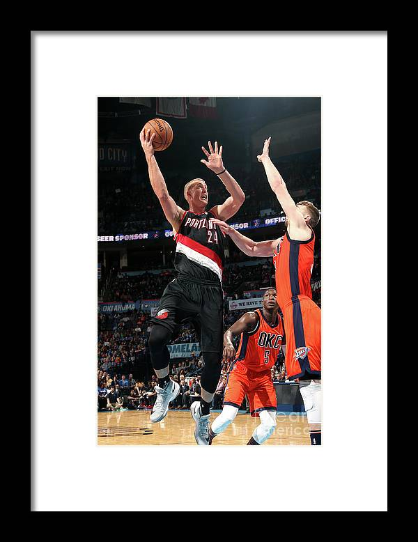 Nba Pro Basketball Framed Print featuring the photograph Mason Plumlee by Layne Murdoch