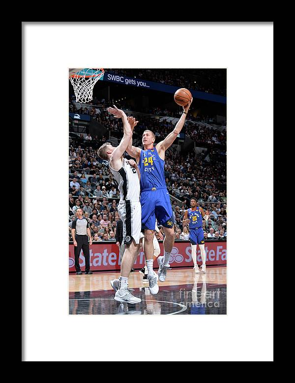 Playoffs Framed Print featuring the photograph Mason Plumlee by Mark Sobhani