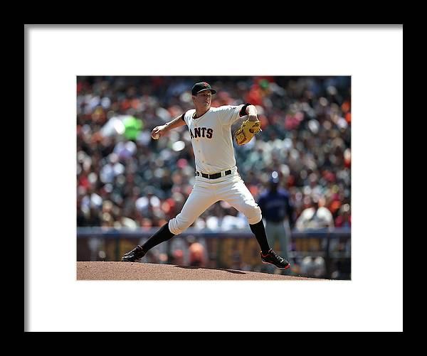 San Francisco Framed Print featuring the photograph Matt Cain by Brad Mangin