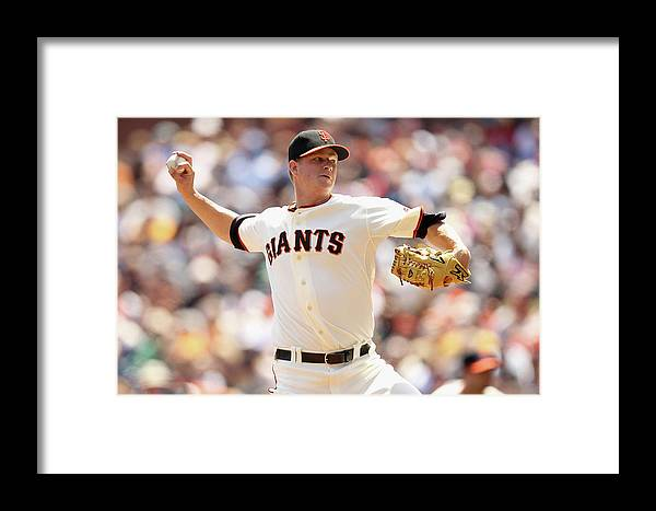 San Francisco Framed Print featuring the photograph Matt Cain by Ezra Shaw
