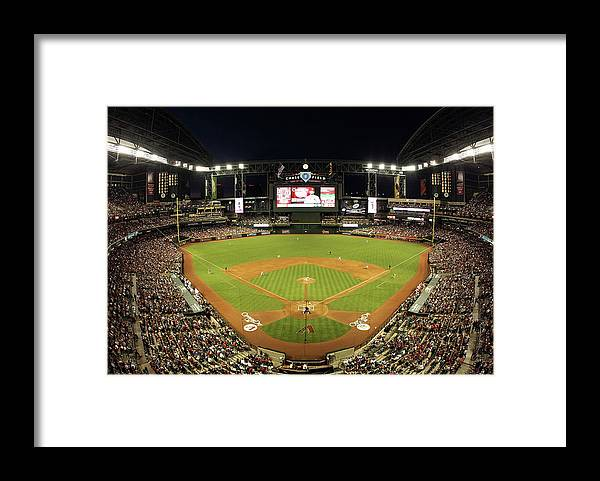 Motion Framed Print featuring the photograph Matt Carpenter and Ian Kennedy by Christian Petersen