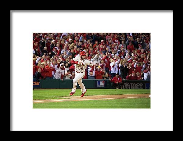St. Louis Cardinals Framed Print featuring the photograph Matt Carpenter and Matt Holliday by Ron Vesely