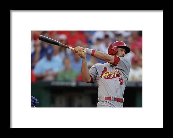 St. Louis Cardinals Framed Print featuring the photograph Matt Carpenter by Ed Zurga