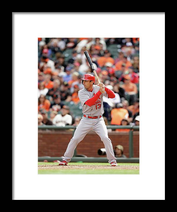 St. Louis Cardinals Framed Print featuring the photograph Matt Carpenter by Ezra Shaw
