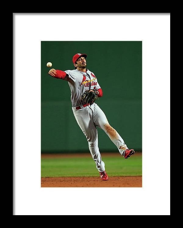 St. Louis Cardinals Framed Print featuring the photograph Matt Carpenter by Jamie Squire