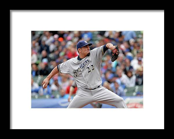Baseball Pitcher Framed Print featuring the photograph Matt Garza by Brian Kersey