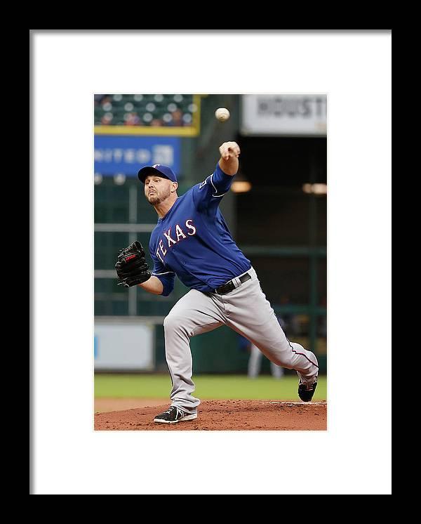 American League Baseball Framed Print featuring the photograph Matt Harrison by Scott Halleran