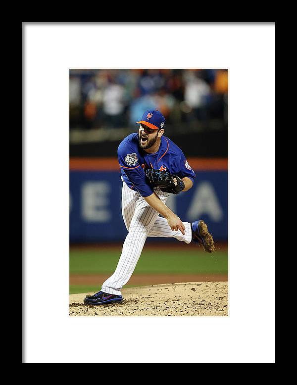 Matt Harvey Framed Print featuring the photograph Matt Harvey by Brad Mangin