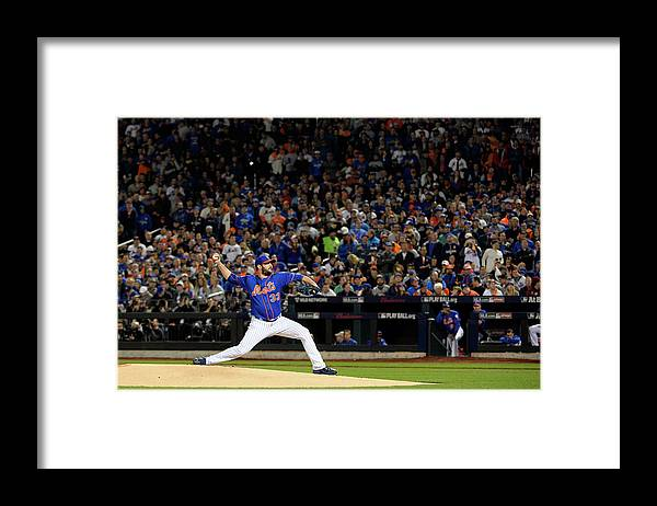 Matt Harvey Framed Print featuring the photograph Matt Harvey by Ron Vesely