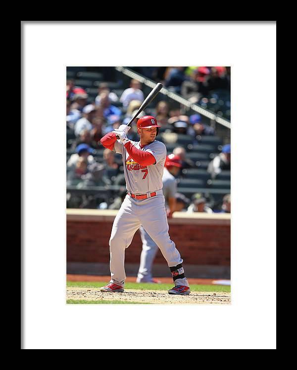 St. Louis Cardinals Framed Print featuring the photograph Matt Holliday by Al Bello