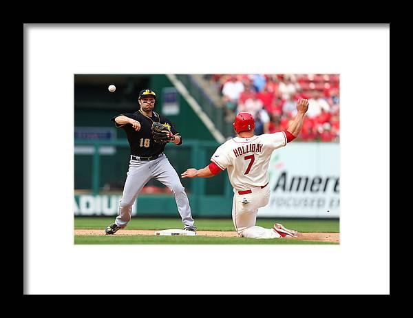 St. Louis Cardinals Framed Print featuring the photograph Matt Holliday and Neil Walker by Dilip Vishwanat