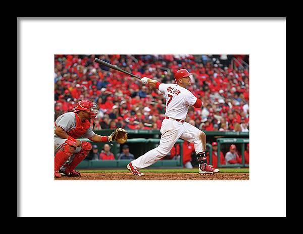 St. Louis Cardinals Framed Print featuring the photograph Matt Holliday by Dilip Vishwanat
