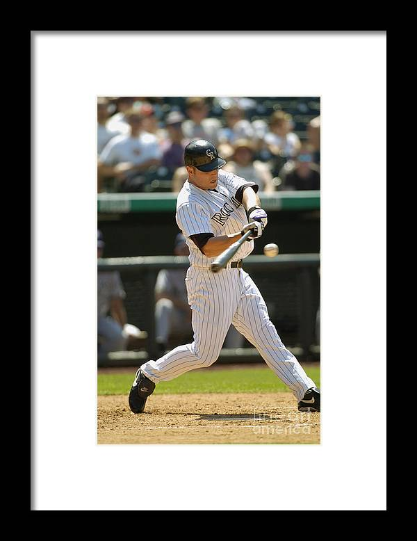 National League Baseball Framed Print featuring the photograph Matt Holliday by John Williamson
