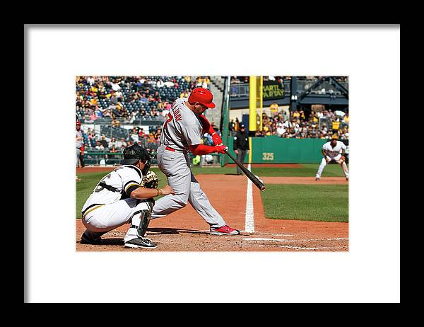 St. Louis Cardinals Framed Print featuring the photograph Matt Holliday by Justin K. Aller