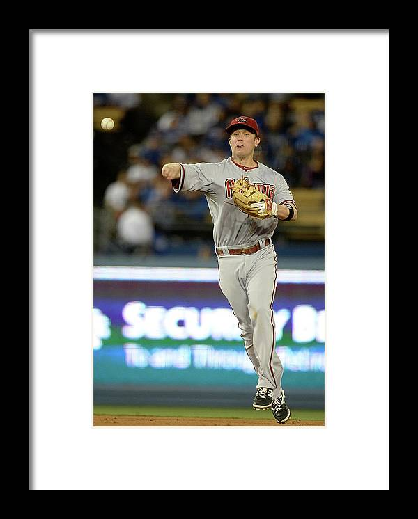 Second Inning Framed Print featuring the photograph Matt Kemp and Aaron Hill by Harry How
