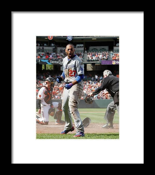 American League Baseball Framed Print featuring the photograph Matt Kemp by Rob Carr
