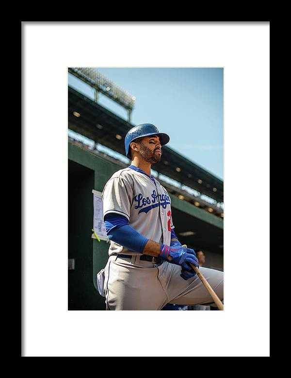 American League Baseball Framed Print featuring the photograph Matt Kemp by Rob Tringali