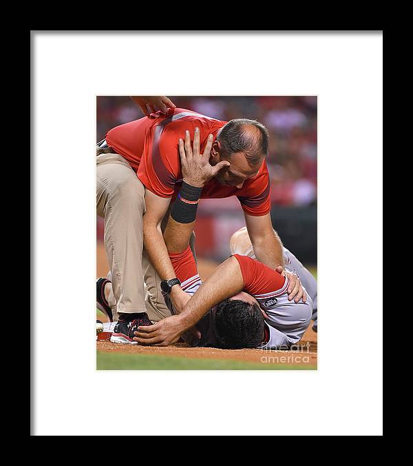 People Framed Print featuring the photograph Matt Shoemaker by Jayne Kamin-oncea