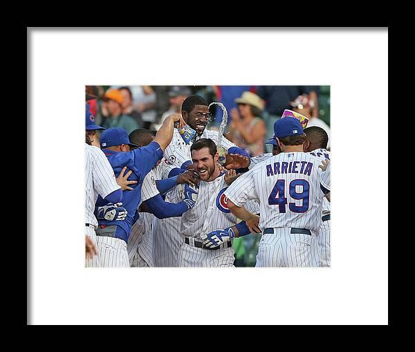 National League Baseball Framed Print featuring the photograph Matt Szczur by Jonathan Daniel