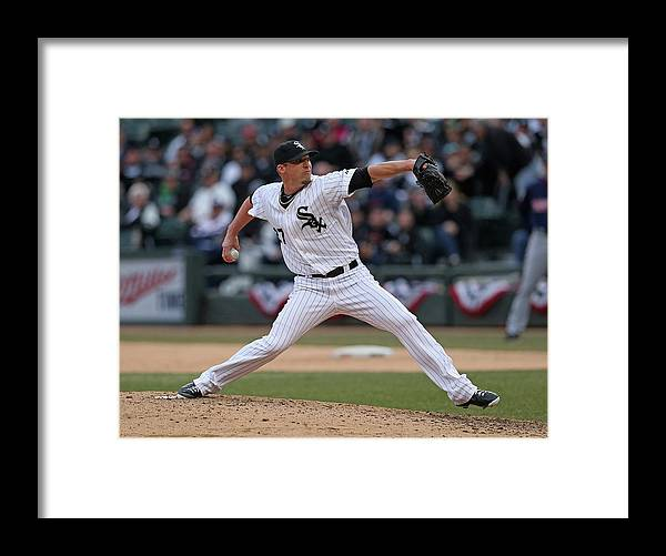 American League Baseball Framed Print featuring the photograph Matt White by Jonathan Daniel
