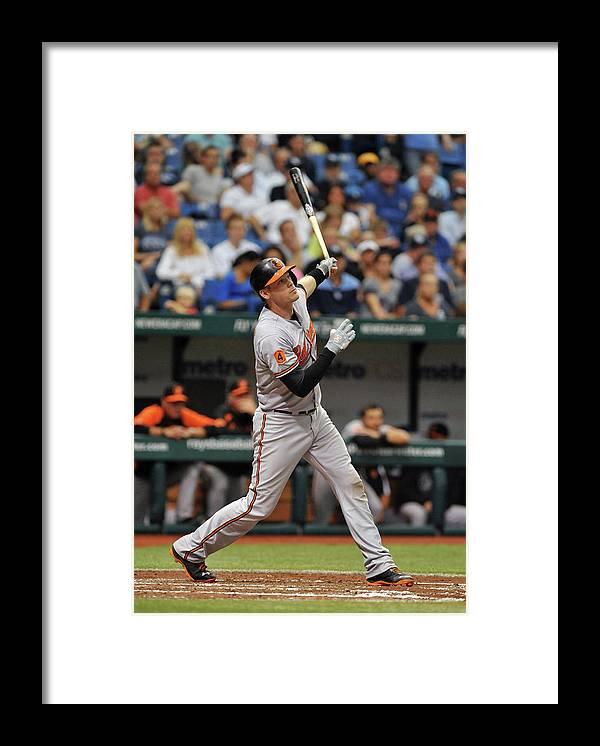 Baseball Catcher Framed Print featuring the photograph Matt Wieters by Al Messerschmidt