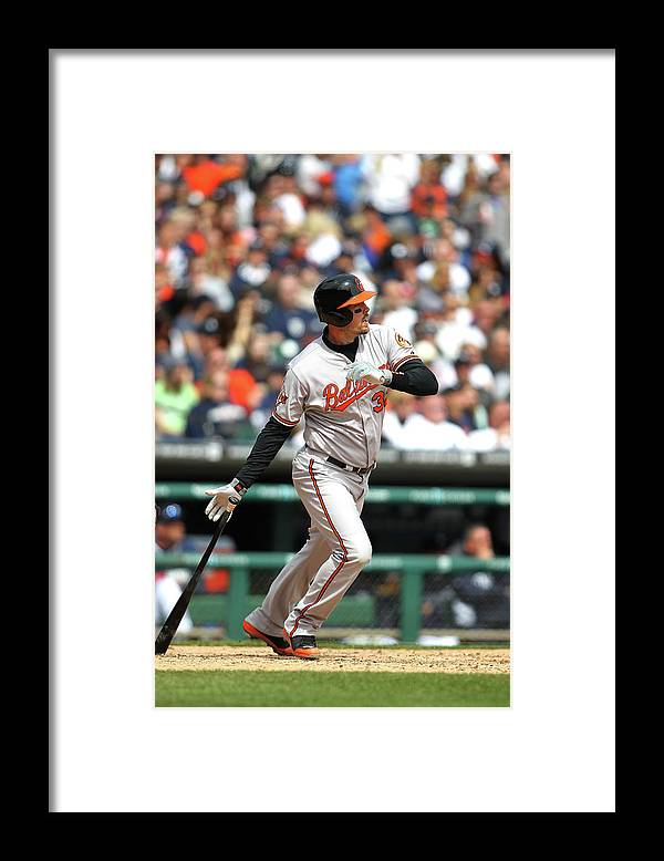 American League Baseball Framed Print featuring the photograph Matt Wieters by John Grieshop