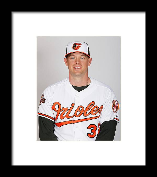 Media Day Framed Print featuring the photograph Matt Wieters by Kevin C. Cox
