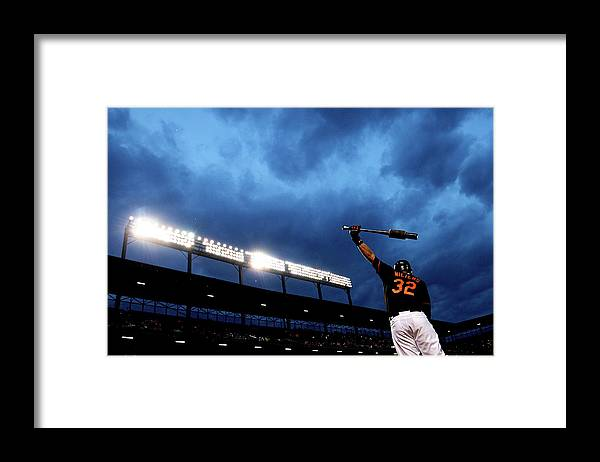 American League Baseball Framed Print featuring the photograph Matt Wieters by Patrick Smith