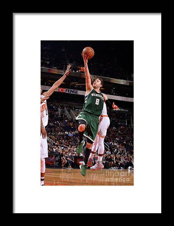 Nba Pro Basketball Framed Print featuring the photograph Matthew Dellavedova by Barry Gossage
