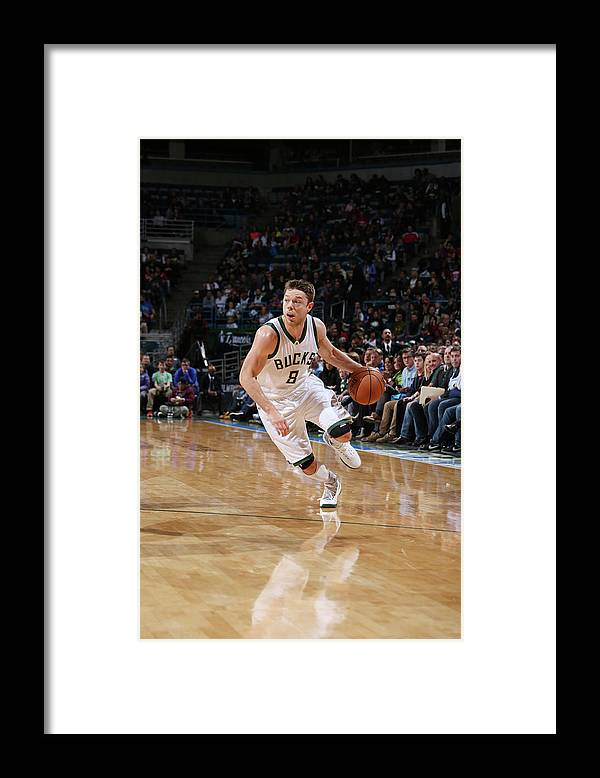 Nba Pro Basketball Framed Print featuring the photograph Matthew Dellavedova by Gary Dineen