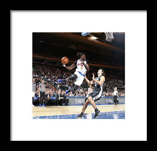 Nba Pro Basketball Framed Print featuring the photograph Maurice Ndour by Nathaniel S. Butler