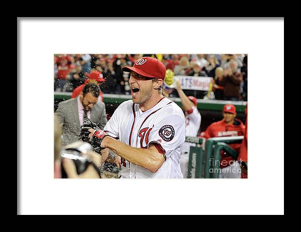 People Framed Print featuring the photograph Max Scherzer by Greg Fiume