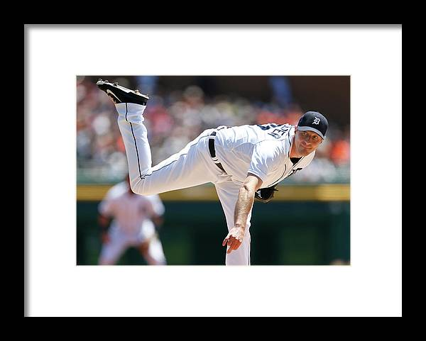 American League Baseball Framed Print featuring the photograph Max Scherzer by Gregory Shamus