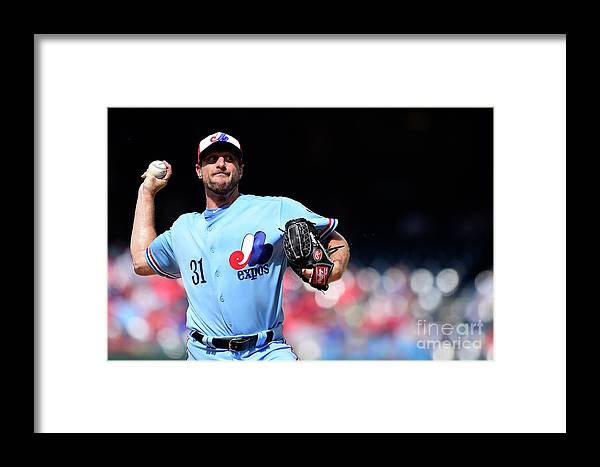 Three Quarter Length Framed Print featuring the photograph Max Scherzer by Patrick Mcdermott