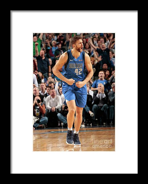 Nba Pro Basketball Framed Print featuring the photograph Maxi Kleber by Glenn James