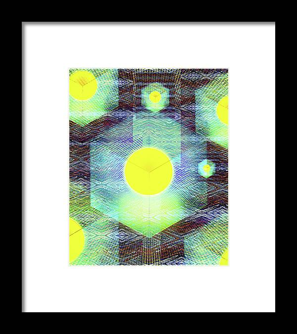 Abstract Framed Print featuring the digital art Mechagod by Jack Entropy