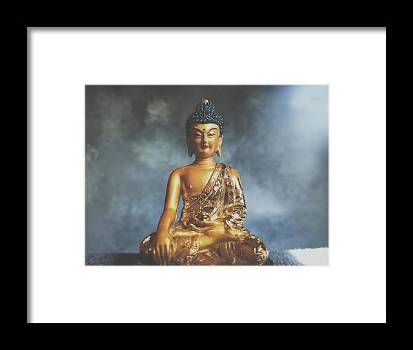 Buddha Framed Print featuring the photograph Medicine Buddha by Barista Uno