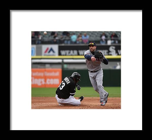 American League Baseball Framed Print featuring the photograph Melky Cabrera and Jason Kipnis by David Banks