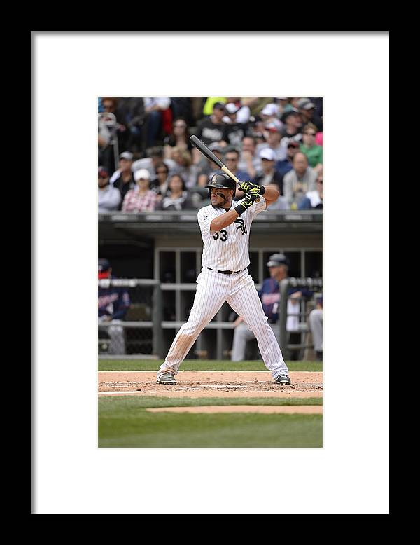 People Framed Print featuring the photograph Melky Cabrera by Ron Vesely