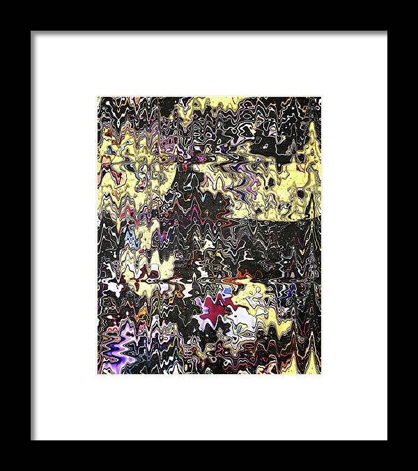 Abstract Framed Print featuring the digital art Melted Cheese Drips On Your Favorite Shirt by Jack Entropy